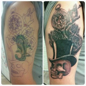 Cover up met skull